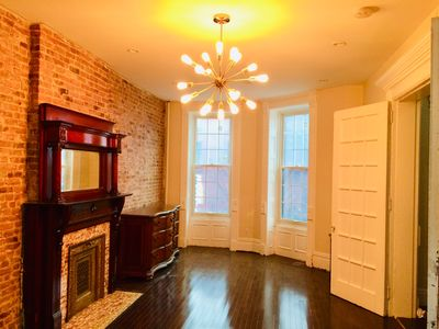 Photo for Gorgeous 2 BR Loft in Historic Brooklyn Brownstone 20 min to Downtown Manhattan