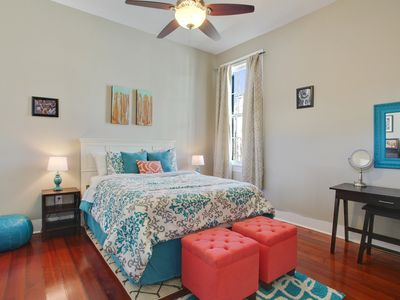 Photo for Upscale, Modern Apartment on Bourbon St with Balcony overlooking Courtyard