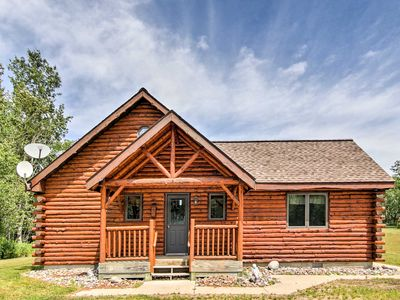 Photo for 2BR Rapid River Log Cabin on 160 Acres!
