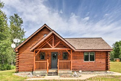 A peaceful vacation rental cabin awaits you on this 160 acre property in Rapid River!