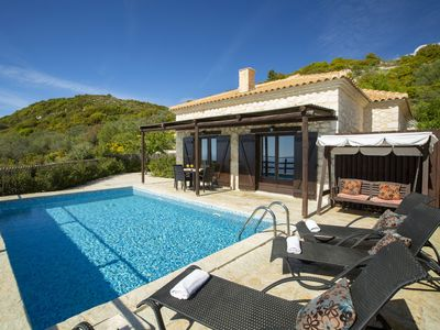 Photo for Cosy Villa Ersi deal for couples and families,with private pool & sea view