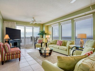 Photo for Stunning Vacation Rental, Gulf-front balcony, On-site pool and hot tub, On the beach