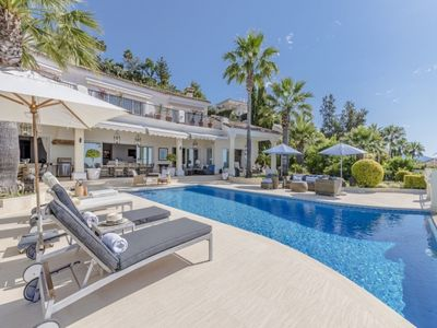 Photo for 4 bedroom Villa, sleeps 8 in La Heredia with Pool, Air Con and WiFi
