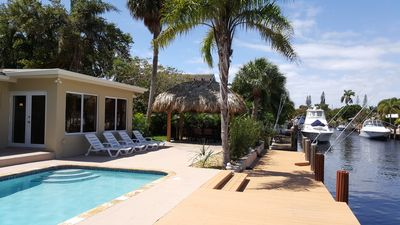 Photo for Waterfront House, Private Pool, TIKI Hut