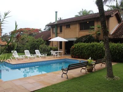 Photo for Ubatuba House, 4 Bedrooms (2 Suites), Air Cond and Pool, Lazaro, Jd. Green stone