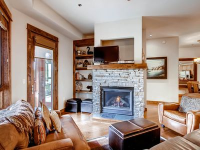 Photo for Ski-in/ski-out condo with outdoor pool & hot tubs, 24 hour desk