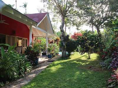 Photo for Villa in tropical garden with private pool, close to everything