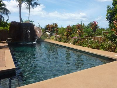Waterfall and slide at Pool