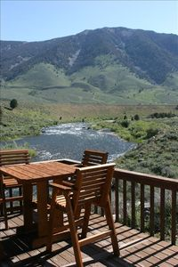 Watch fish rise from the deck on the Madison River