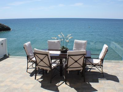 Photo for HOUSE ON A CLIFF, BEACH AT 30 M, SATELLITE TV, WIFI, PARKING AND SWIMMING POOL