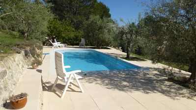 Photo for Rental house with private pool on land of olive trees Flayosc