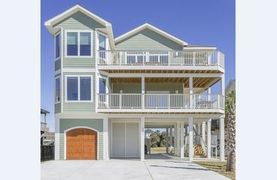 Photo for 5 Bedroom Pirates Beach New Construction! Gulf & Bay Views! Golf Cart Included