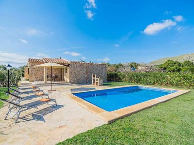 Photo for Superb two bedroom villa with private pool & garden in Puerto Pollensa