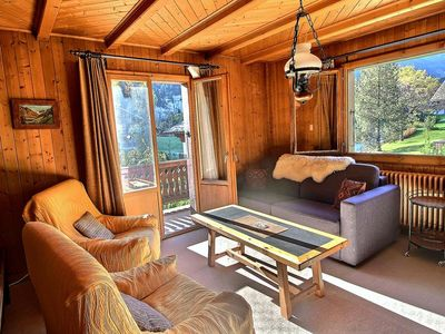 Photo for Rustic apartment in chalet with 3 bedrooms, beautiful terrace and balcony (5-W)