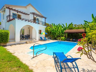 Photo for Sun Beach Villa Thio: Large Private Pool, Walk to Beach, A/C, WiFi, Car Not Required