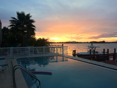 Photo for Waterfront Beach Lovers Dream, Boaters Paradise with Boat Dock, Seaside  Pool.
