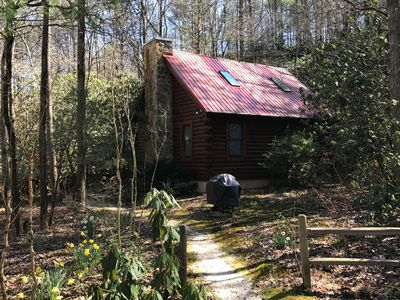 Photo for Secluded Log Cabin on creek; near Helen, Anna Ruby Falls and Unicoi; NO FEES