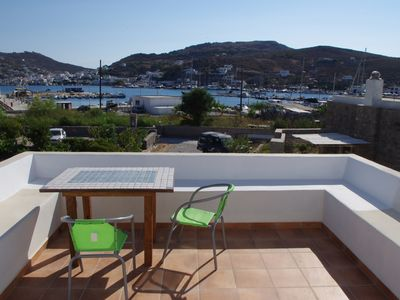 Photo for First floor house with stunning sea and aulla Chora views.
