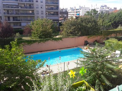 Photo for Luxury apartment with pool on the banks of the Rhône