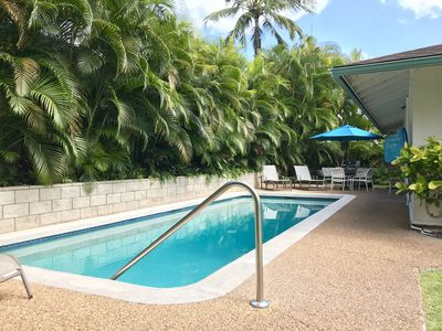 Photo for LOVELY STYLE HAWAIIAN HOME W/HOT TUB,  PRIVATE POOL, A/C, 3 MIN. WALK TO BEACH