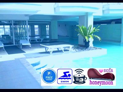 Photo for D-J ♣ 1BR ❤️PinayLove ★ Free: Pool, Parking, Wifi