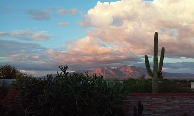 View of the Santa Catalina Mountains. It is magical at any hour.
