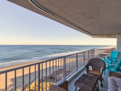 Photo for Oceanfront condo w/ amazing views & beach access offers private pool, tennis!