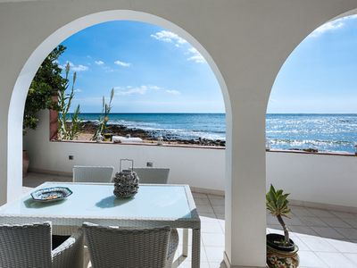 Photo for Brezza di Mare - House for 6 People directly on the Sicilian sea