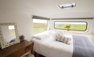 Photo for Bantham Bus - converted double decker bus with all home comforts, close to beach