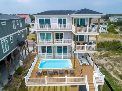 Photo for Brand New,Luxury-7 BR/6. BA,Oceanfront Home-Elevated POOL & Elevator-Sleeps 22