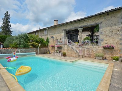 Photo for Cozy Holiday Home in La Forêt-de-Tessé with Private Pool