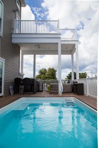 Photo for NEW BUILD!!! Awesome new 5 bedroom 4 bath with pool, hot tub & rooftop deck
