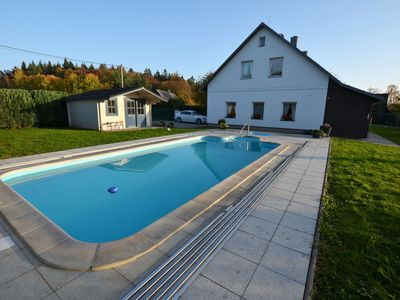 Photo for Comfortable apartment on the 1st floor with covered pool and fenced garden