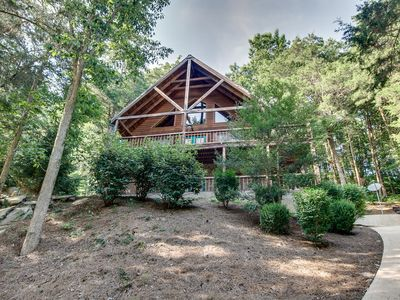 Photo for Beautiful Cabin Nestled On A Hillside At Cove Hollow Bay