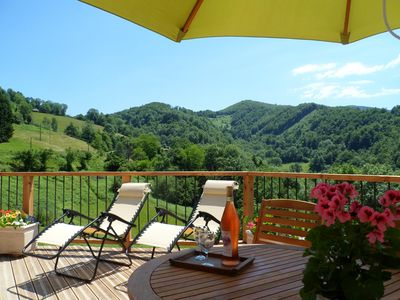 Photo for Le Coucou Gîte, Charming cottage in Rivèrenert absolute calm and sublime view