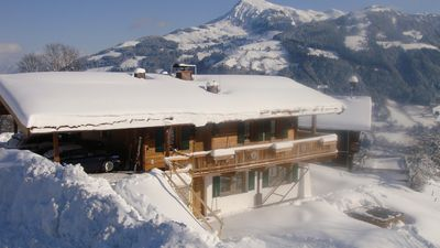 Photo for Luxury chalet directly on the ski slope to Kitzbühel with stunning views (1 000 M)