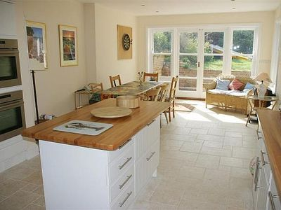 Photo for Luxury Spacious  Seaview Home, 3 mins from beach: sea views,sun terrace & garden