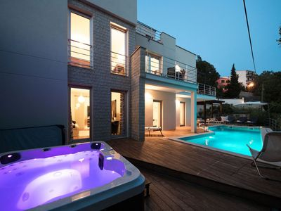 Photo for Modern villa with pool and jacuzzi , 70m distant from the sea !