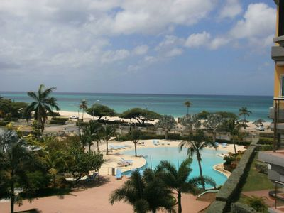 Photo for BEACHFRONT - EAGLE BEACH - OCEANIA RESORT -Glamour View Studio condo - E422-1