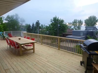 Photo for View of the lake from 2 decks in this 6BR Lake Shore Dr home, steps to the beach