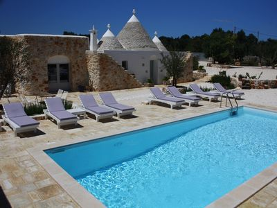 Photo for Trullo San Paolo - 6 Bed Puglian House with Trullo in countryside near Ostuni