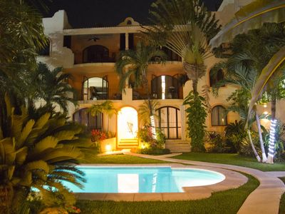 Photo for 2 Bed 2 Bth Penthouse Private Roof Terrace,  Garden/Pool, Steps To Mamita Beach