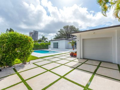 Photo for Gated Modern Villa with pool, On the Venetian Islands! A must see!