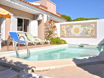 Photo for Small terraced private pool house, between The Old Village and Hilton Hotel