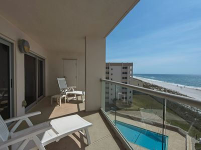 Photo for Regency Towers 703 West - 1 bedroom/1 bath Gulf Front. Free WiFi. Pool.