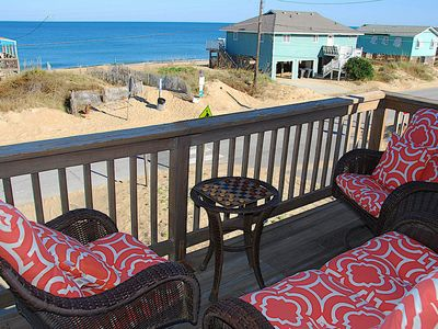 Photo for The OBX Rx Kitty Hawk Home with Ocean Views from the Deck! Pool, Hot Tub and Beach Access across the Street.