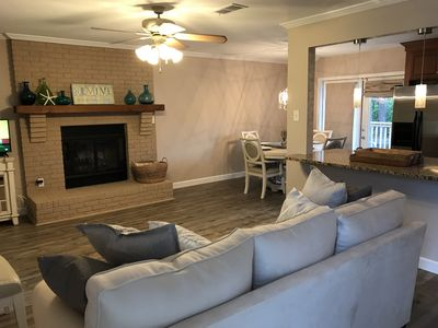 Clean carpet free environment in this open concept living, dining ,kitchen