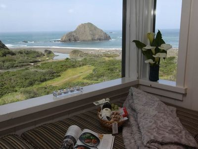 Photo for Private Cottage with Panoramic Ocean Views, Beach Access, Pet-Friendly