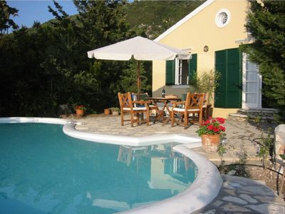 Photo for Charming Traditional Villa with A/C, Private Pool and only 800 m to Agios Nikitas Beach & Village!