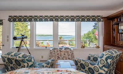 Photo for Bay view cottage w/ deck & firepit - 150 ft to water, near Acadia!